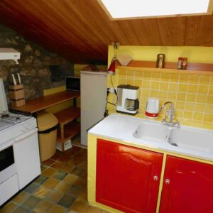 De keuken van vakantiehuis Bergerie