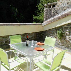 Die Dachterrasse des Ferienhauses Bergerie