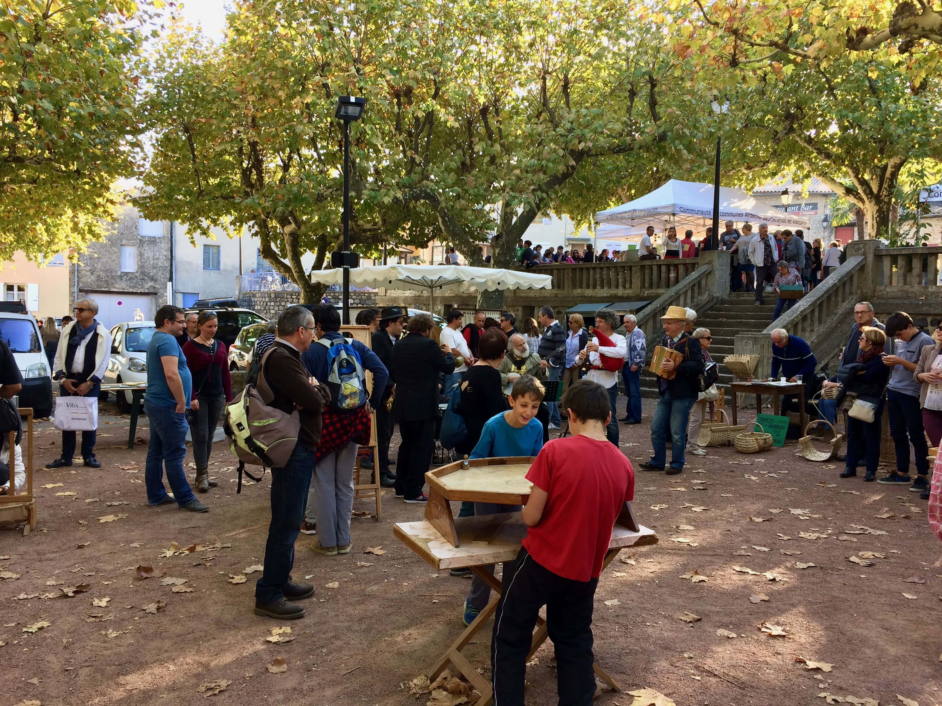 Chestnut market (castagnade) in the Ardèche