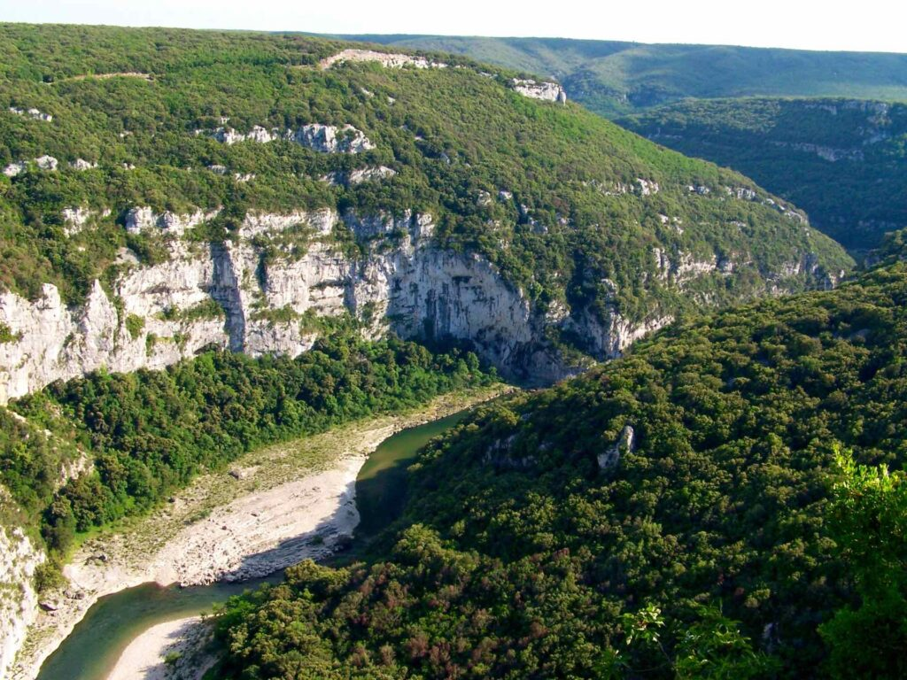 The Gorges de l'Ardèche are one of the most beautiful limestone canyons in France.