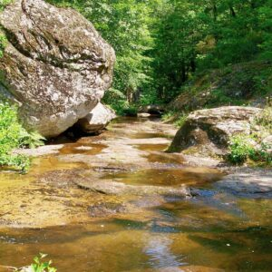 Boulders in the river