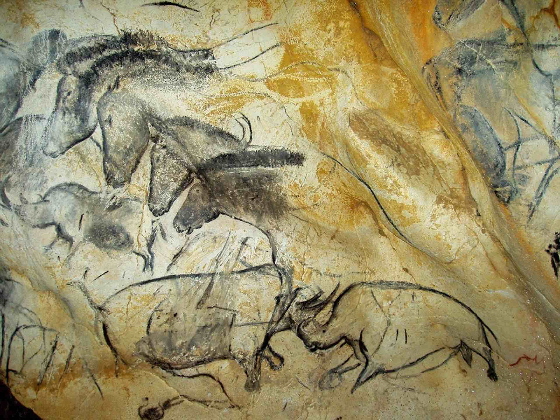 35000-year old drawings in the Caverne du Pont d'Arc