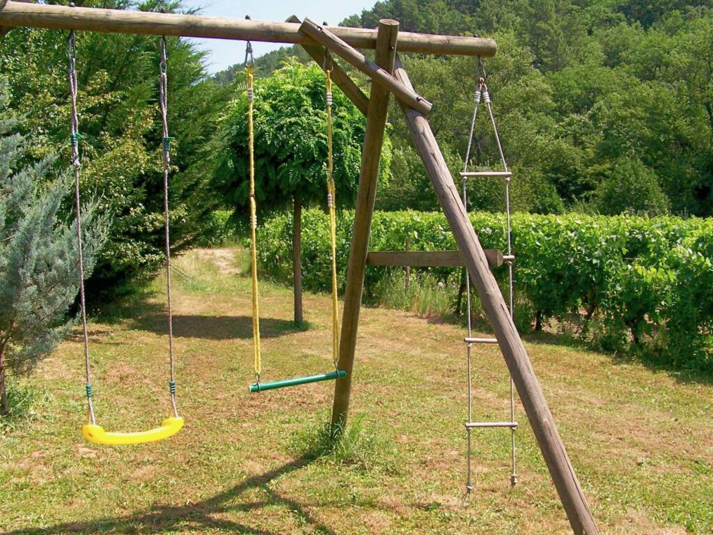 Children's playground with swing