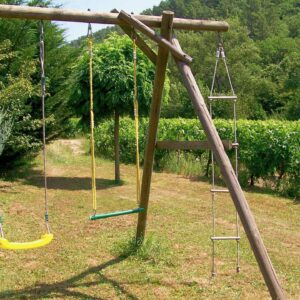 Children's playground with swing