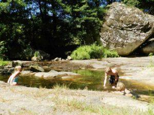 Swimming in the river la Lande