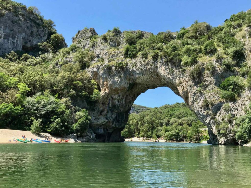 The Pont d'Arc, a natural rock arch across the Ardèche.